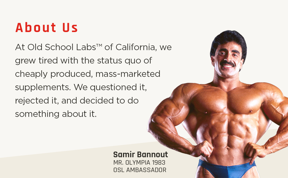 old school labs, supplements, samir bannout, golden era, mr olympia