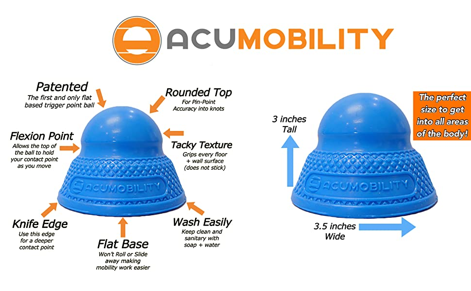 acumobility, acumobility ball, mobility, mobility ball, lacrosse ball, trigger point, ball