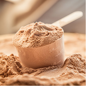 Detail photo of protein powder