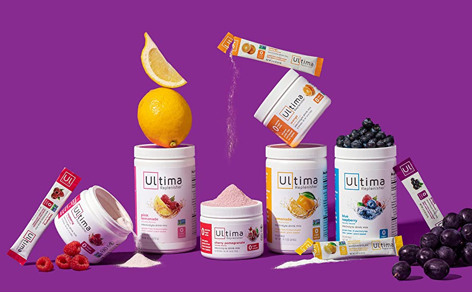ultima stickpacks electrolyte powder drink mix