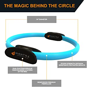 pilates ring  magic circle yoga exercise thigh workout equipment exerciser fitness rings thighmaster