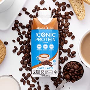 cafe coffiest meal replacement shake drinks bulletproof protein coffee drink iconic whey casein