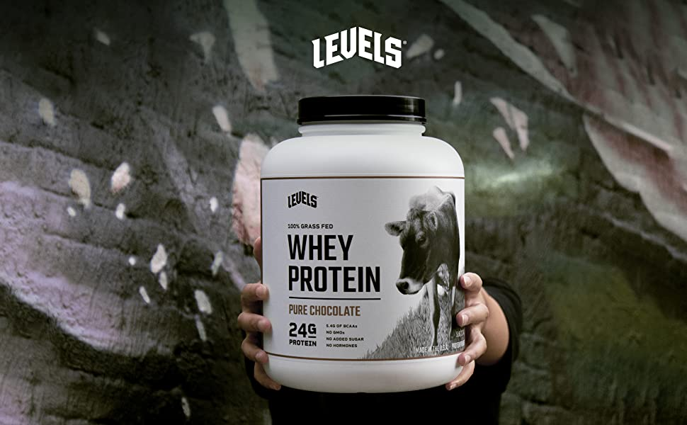 Levels Strawberry Whey Protein Clean Ingredients