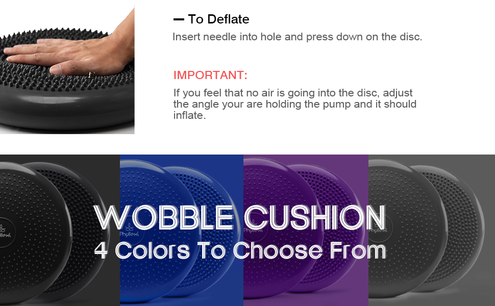 wobble cushion for core exercise